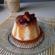 flan de queso con miel